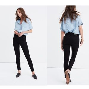 """Madewell 10"""" High Rise Skinny Jeans Black Size 27"""